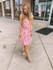 The Lina Floral Dress (Ivory)- FINAL SALE