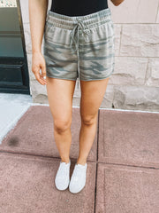 Z Supply Camo Sporty Shorts (Light Sage)
