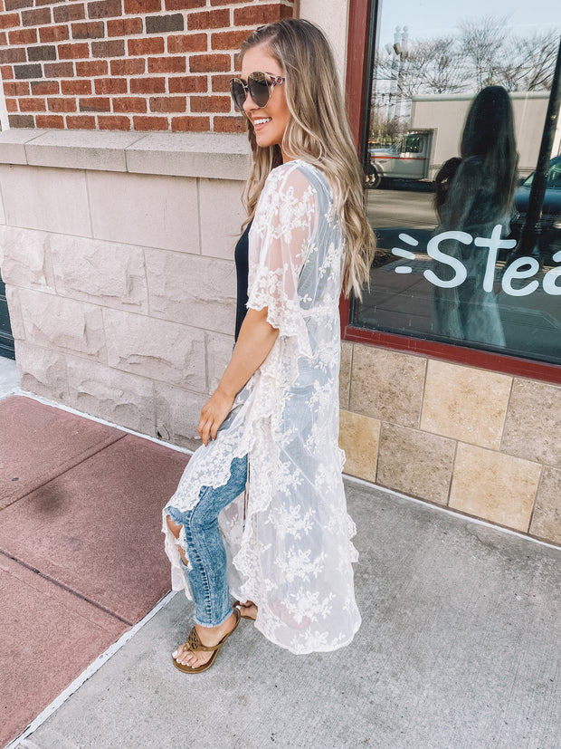 The Ivy Lace Duster (Ivory) FINAL SALE