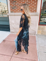 The Ivy Lace Duster (Black)