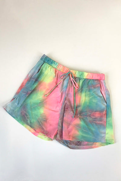 Work From Home Knit Shorts (Tie Dye)FINAL SALE