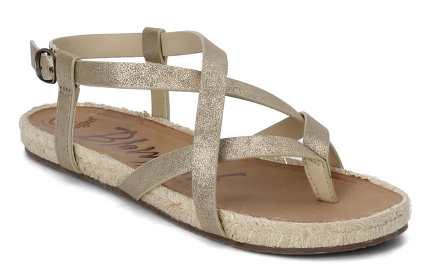 Blowfish Granola Rope Sandals (Gold) FINAL SALE