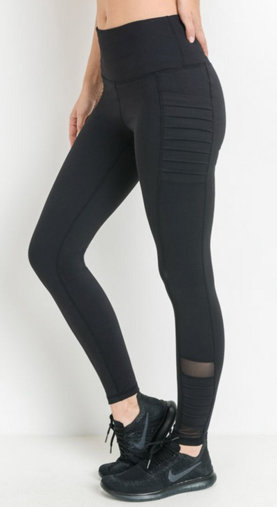Mono B Moto Leggings (Black)