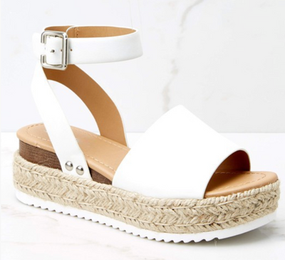 The Echo Platform Sandals (Off White)