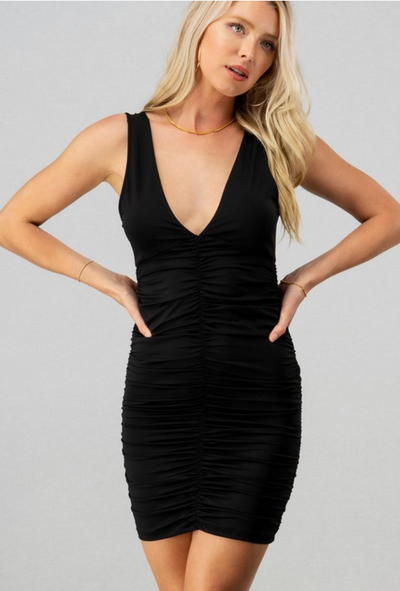 Hit The Town Body Con Dress (Black)