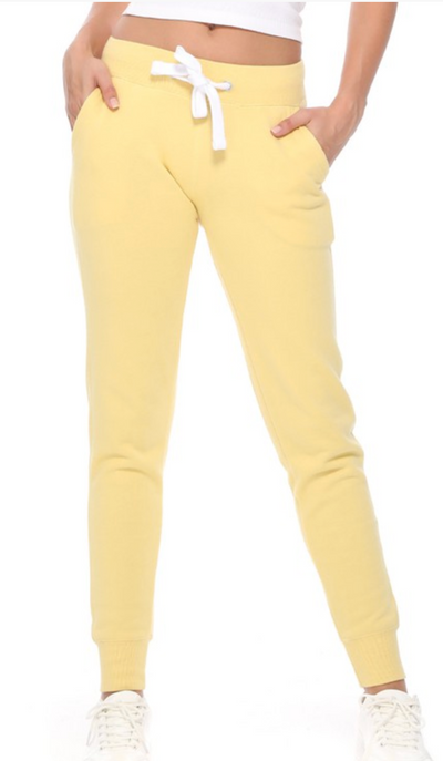Breakfast In Bed Joggers (Butter Yellow)