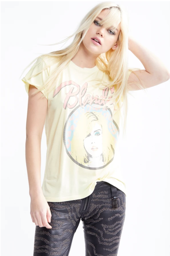 Blondie Leopard-Tender Tee (Yellow)