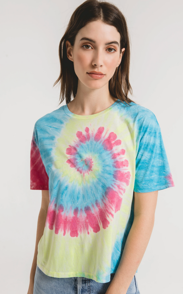 Z Supply Neon Tie Dye Tee