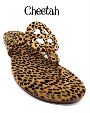 The London Flip Flops (Cheetah)FINAL SALE