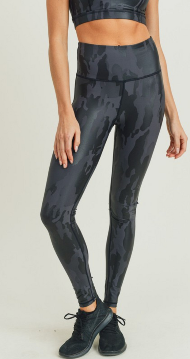 Mono B Camo Foil Leggings FINAL SALE