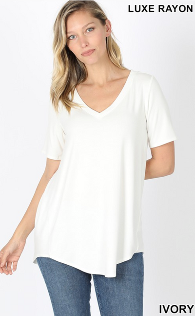 The Vicki V-Neck (Ivory) FINAL SALE