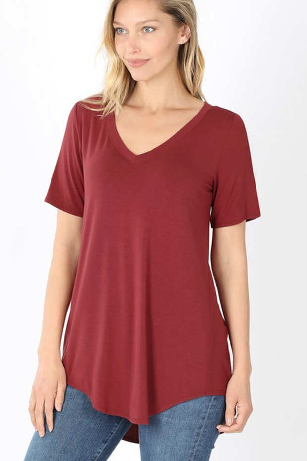 The Vicki V-Neck (Brick) FINAL SALE