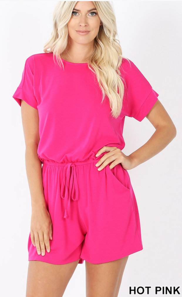 The Kiki Romper (Hot Pink) FINAL SALE