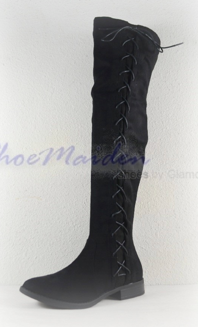 Brody OTK Lace Up Boots (Black)
