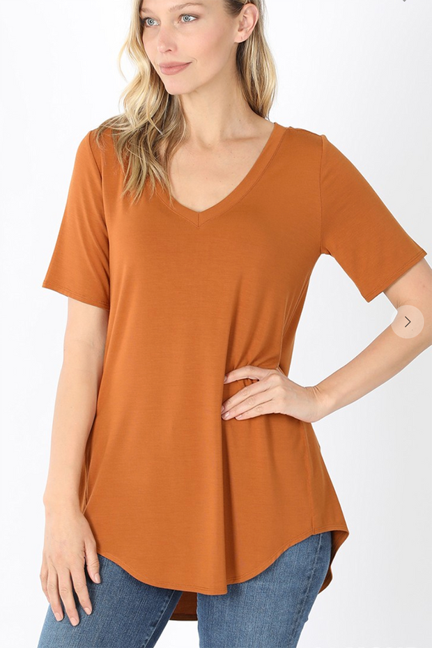 The Vicki V-Neck (Almond)