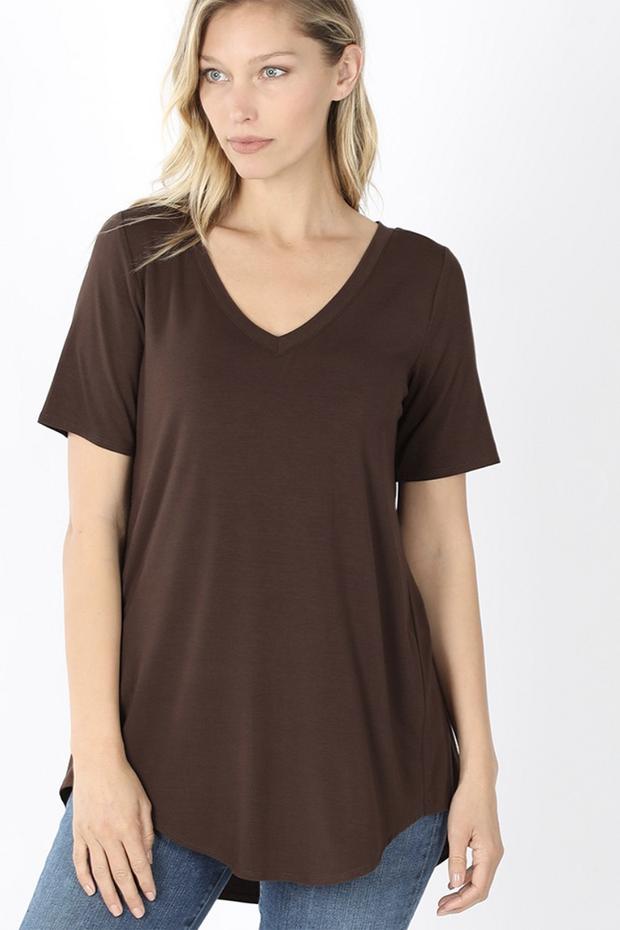 The Vicki V-Neck (Americano) FINAL SALE