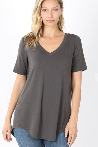 The Vicki V-Neck (Ash Grey) DOORBUSTER