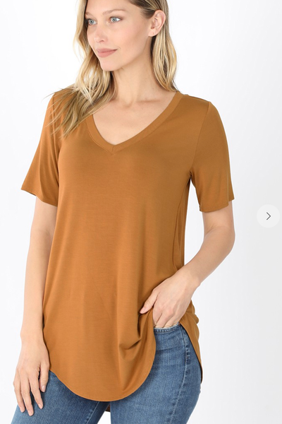 The Vicki V-Neck (Coffee) FINAL SALE