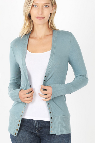 Hold Me Close Knit Cardigan (Blue Grey) DOORBUSTER