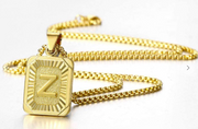 Initial Pendant Necklace (Gold)