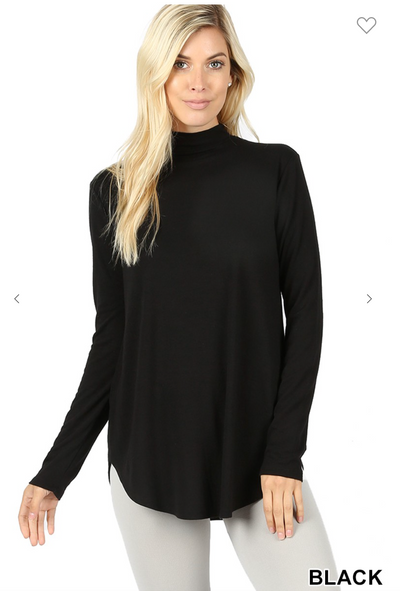 The Tina Turtleneck (Black) CURVY