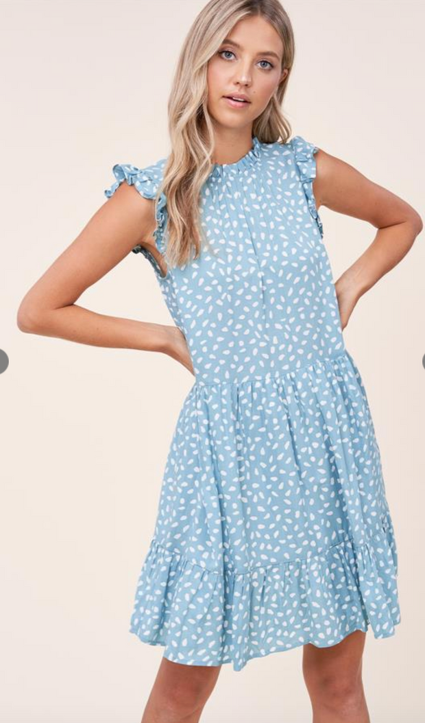 In the Meadow Spotted Dress (Teal)