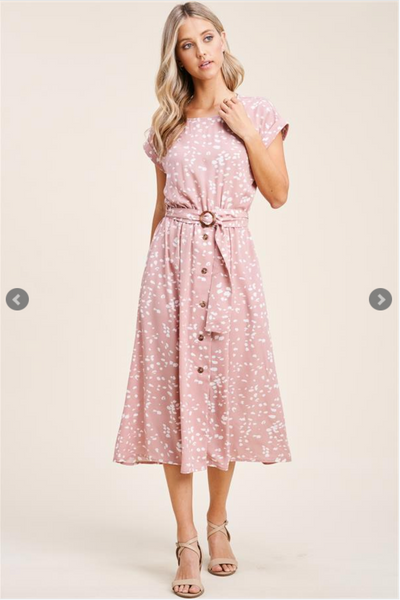 The Victoria Spotted Dress (Mauve)