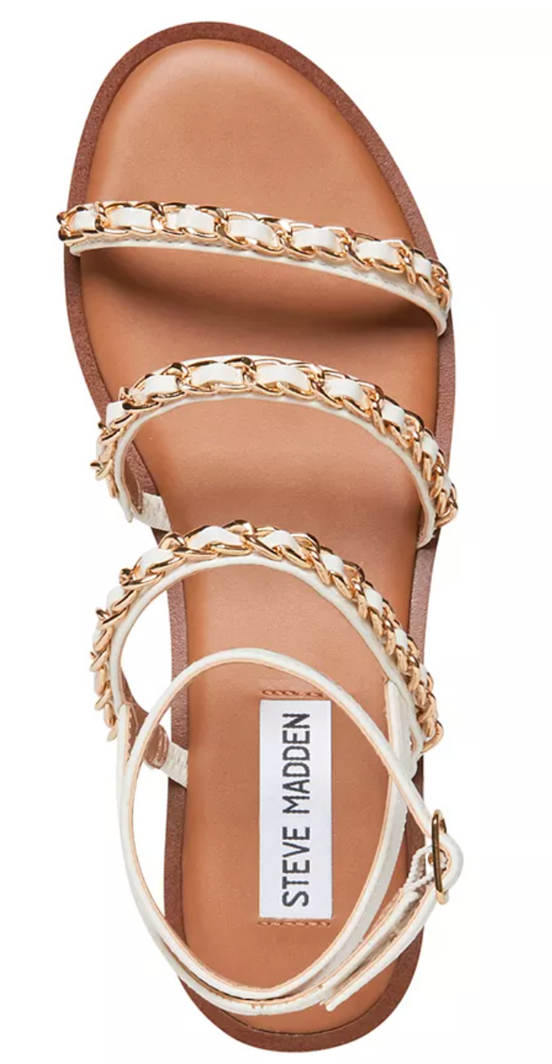 Steve Madden Telsa Sandals (White)
