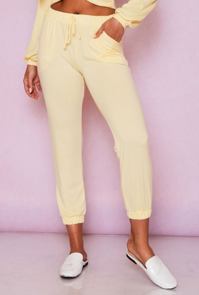 Lounge In Style Joggers (Lemon)