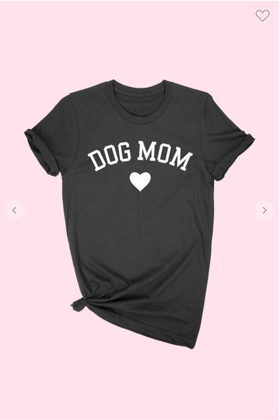 Dog Mom Tee (Black)