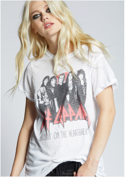 Def Leppard Heartbreak Tee (White)