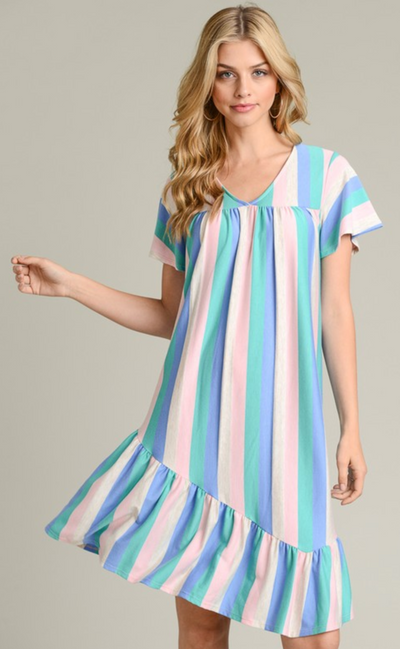 Cotton Candy Dreams Striped Dress (FINAL SALE)
