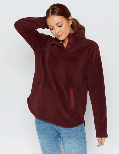 Asher Pullover (Burgundy)(FINAL SALE)