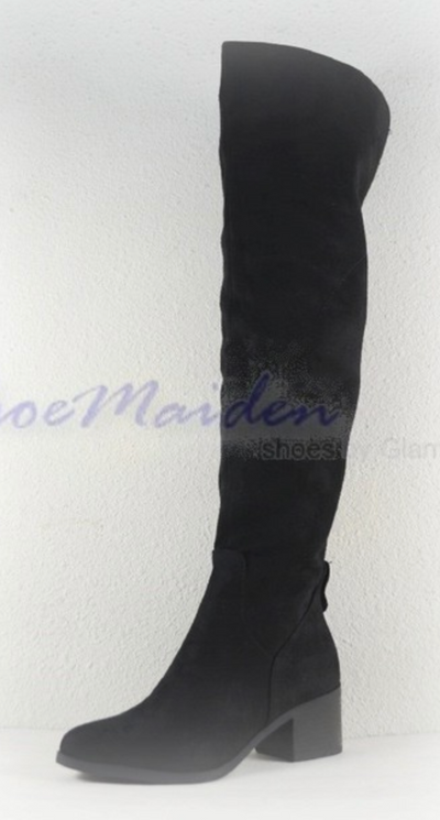 Phoenix Over The Knee Boots (Black)