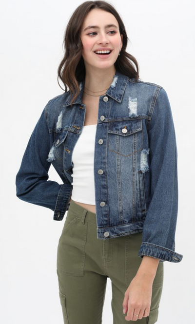 The Maxie Denim Jacket (Dark Wash)