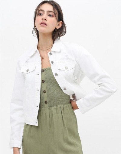The Maxie Denim Jacket (White)