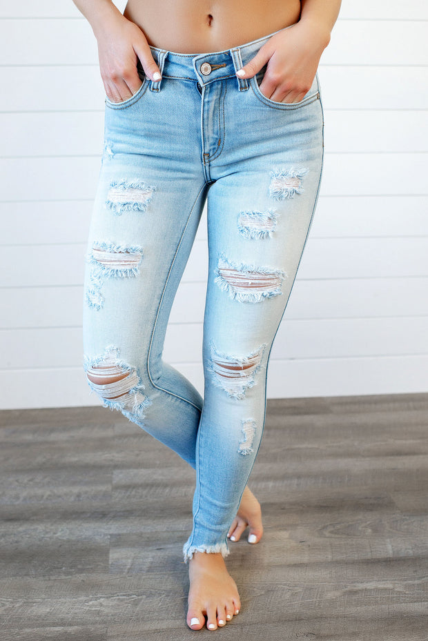KanCan Arya Light Wash Skinnies