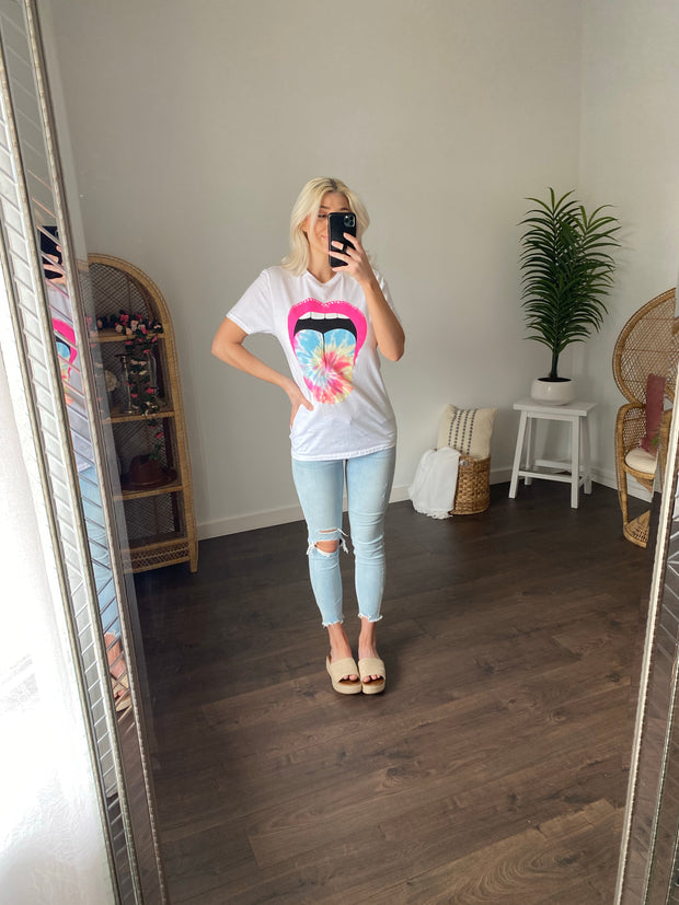 Candy Mouth Graphic Tee (White)