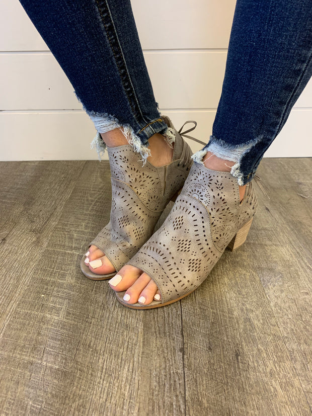 Very G Cecilia Booties (Light Grey) FINAL SALE