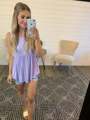 Babydoll Tunic Tank (Lilac) FINAL SALE