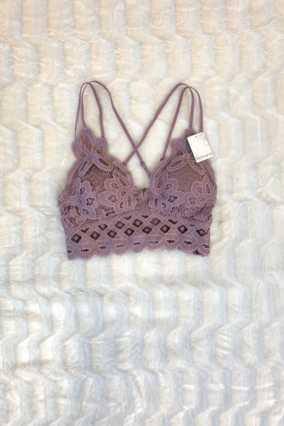 Stay Flirty Bralette (Elderberry)