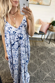 Not So Ordinary Floral Maxi (Blue)
