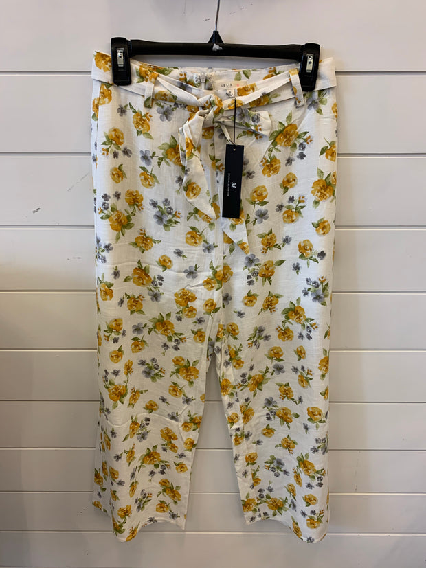 Summer Dreams Floral Pants (Ivory/Mustard)