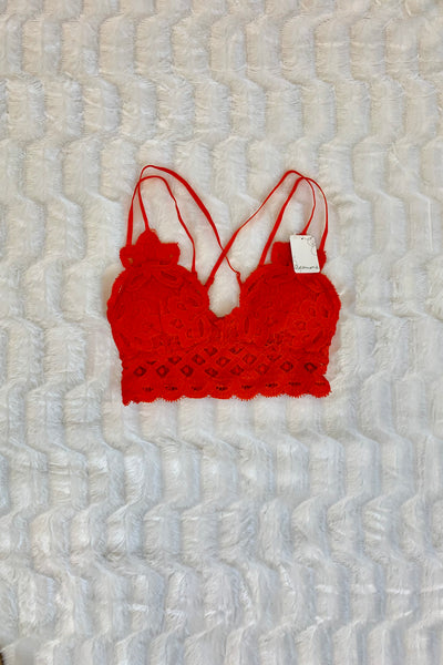 Stay Flirty Bralette (Infrared)