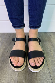 Very G Glossy Sandals (Black) FINAL SALE