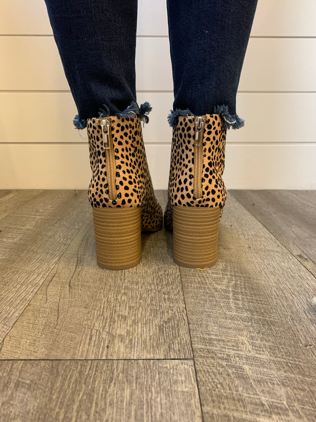 Spotted Cheetah Bootie