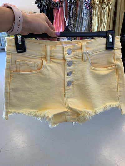 Cello Frayed Shorts (Lemon)