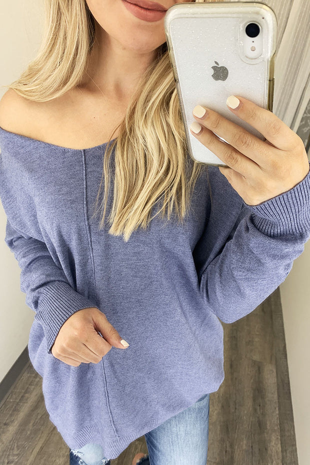 All The Good Things Sweater (Steel Blue)
