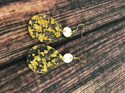 Gold Crush Teardrop Earrings FINAL SALE