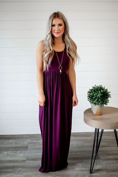 Modestly Posed Racerback Maxi (Mulberry)